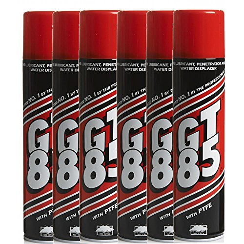 GT85 – 6 botes de lubricante para cadenas con PTFE, repele