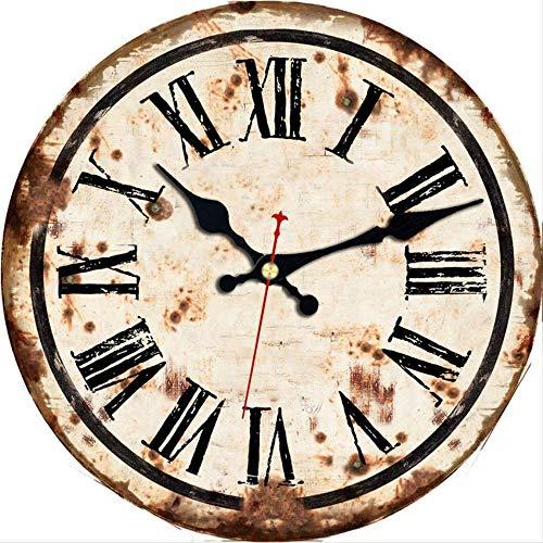 LNDDP 5 Muster Vintage Wanduhren Roman Number Design Stille Raumdekoration Wohnkultur Uhren Große Wanduhren