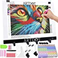 ARTDOT A3 LED Light Pad for Diamond Painting, USB Powered Light Board Kit, Adjustable Brightness with Detachable Stand and Clips