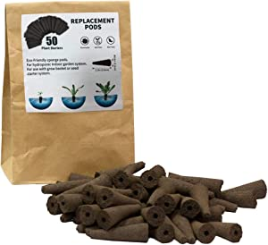 Grow Sponges for Use with AeroGarden, Eco-Friendly Plant Growing Plugs Sponges for Hydroponic Plants Growth, Pack of 50