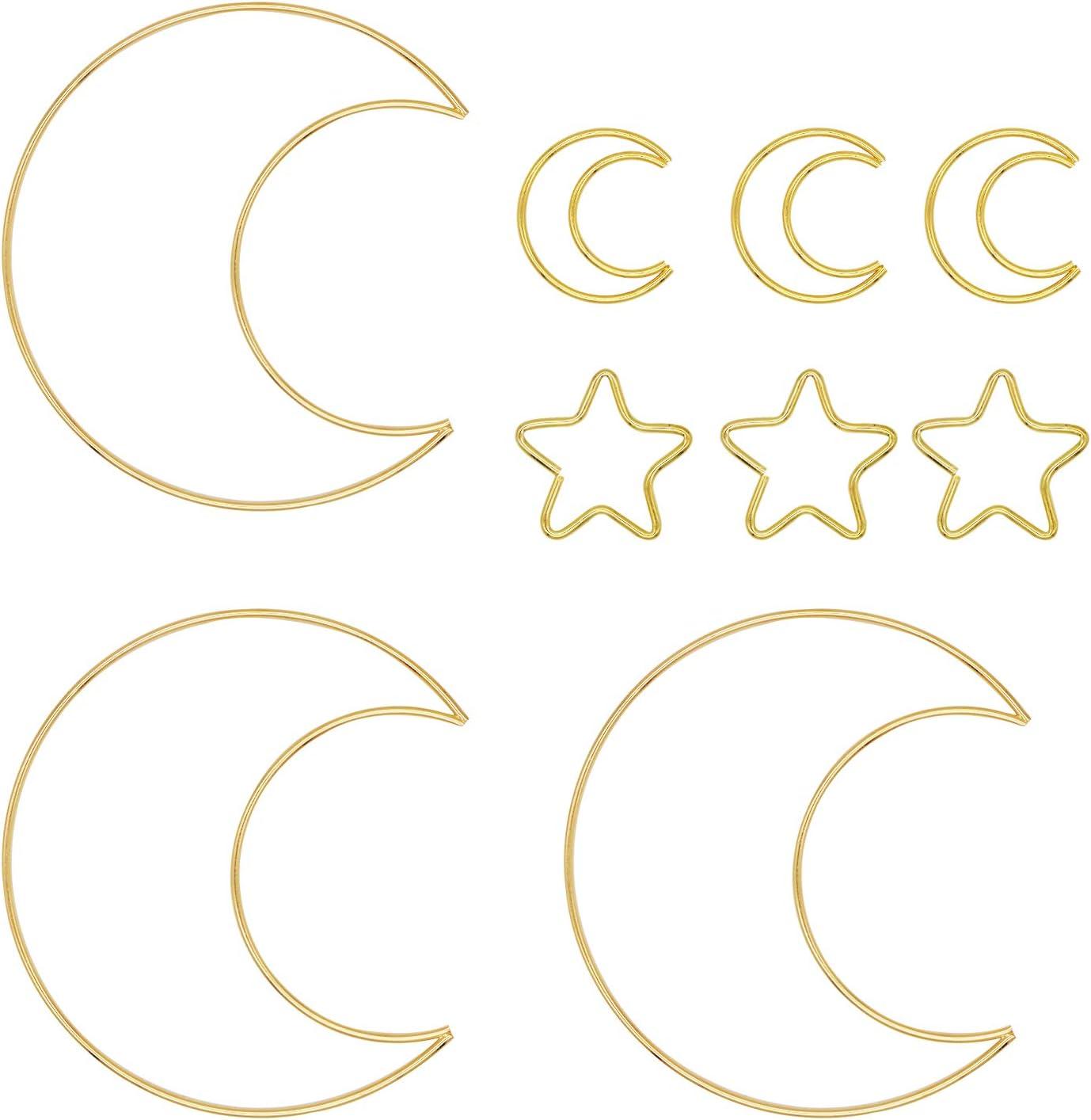 Virginia Beach Mall Ranking TOP2 9 PCS Metal Crafts Hoop 6 Inch C Moon Dream Star Shaped 2