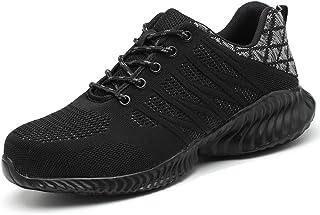 Men Women Breathable Lightweight Steel Toe Work Shoes