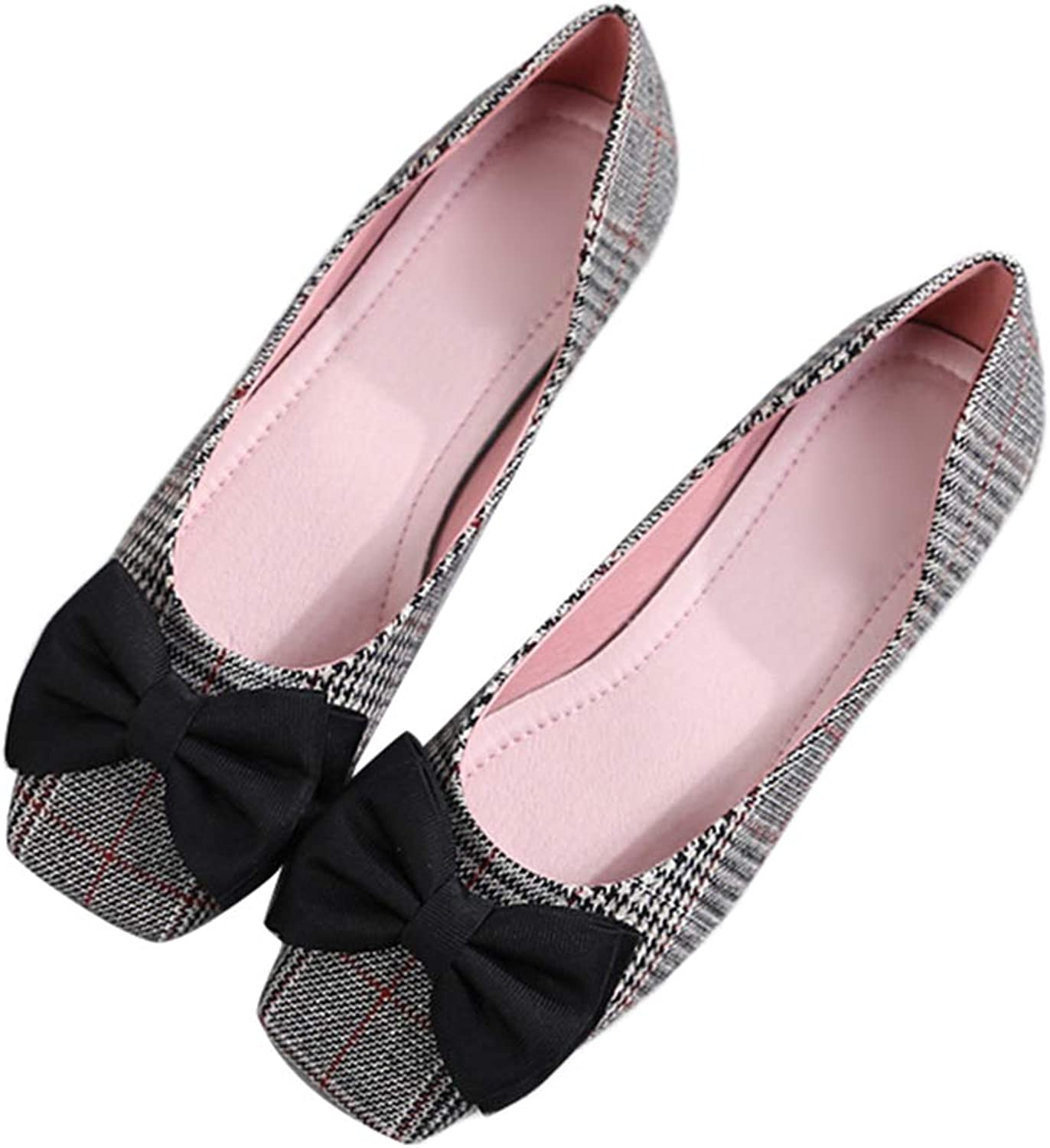 Kyle Walsh Pa Women Flats shoes Square Toe Bowknot Ladies Elegant Comfortable Working Driving Moccasins