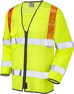 Hi-Vis Yellow X Large Leo Workwear Mullacott EN 471 Class-3 EN 533 Knitted Polyester LFS Sleeved FR Waistcoat