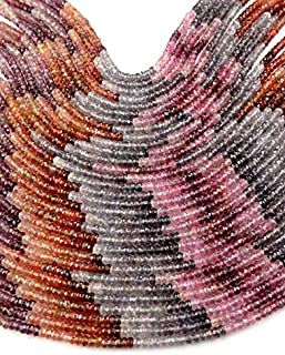 """Jewel Beads 50% Off 1 Strand Natural Multi Spinel Micro Faceted Rondelle Gemstone 3.5-4mm Loose Beads,Necklace Making Gemstone 13.5"""" Long Code-AUR-66494"""
