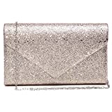 Women Glistening Evening Clutch Bags Formal Party Clutches Wedding Purses Cocktail Prom Clutches Champagne...