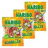 Haribo Saure Schnuller, 3er Pack, Gummibärchen, Weingummi, Fruchtgummi, Im Beutel, Tüte, 200 g