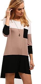 Best colorblock t shirt dress Reviews
