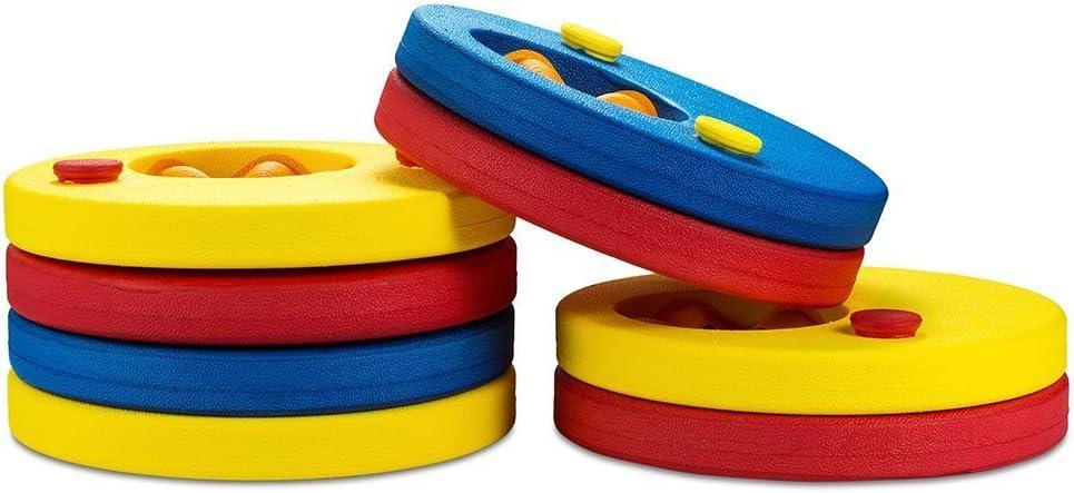 SKYSPER 8 Piezas Manguitos de Natación para Niños Flotador Bebe Piscina Discos Flotantes Hechos de Espuma con Certificación Seguridad Aprender a Nadar