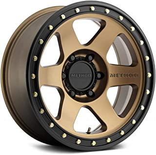 Method Race Wheels Con 6 Bronze/Black Street Loc Wheel with Painted Finish and Zinc Plated Accent Bolts (18 x 9. inches /8 x 180 mm, 18 mm Offset)