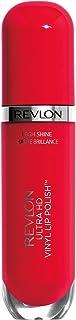 Revlon Ultra HD Vinyl Lip Polish, Liquid Lipstick with Aloe Leaf Extract and Vitamin E, 905 She's on Fire, 0.16 oz