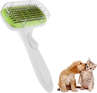 Smarty Pet Dog Grooming Brush, Self Cleaning Slicker Brush for Pets and Cats Easy to Clean Reduces Shedding Pet Grooming B...