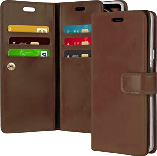 Goospery Mansoor Wallet for Samsung Galaxy Note 9 Case (2018) Double Sided Card Holder Flip Cover (Brown) NT9-MAN-BRN