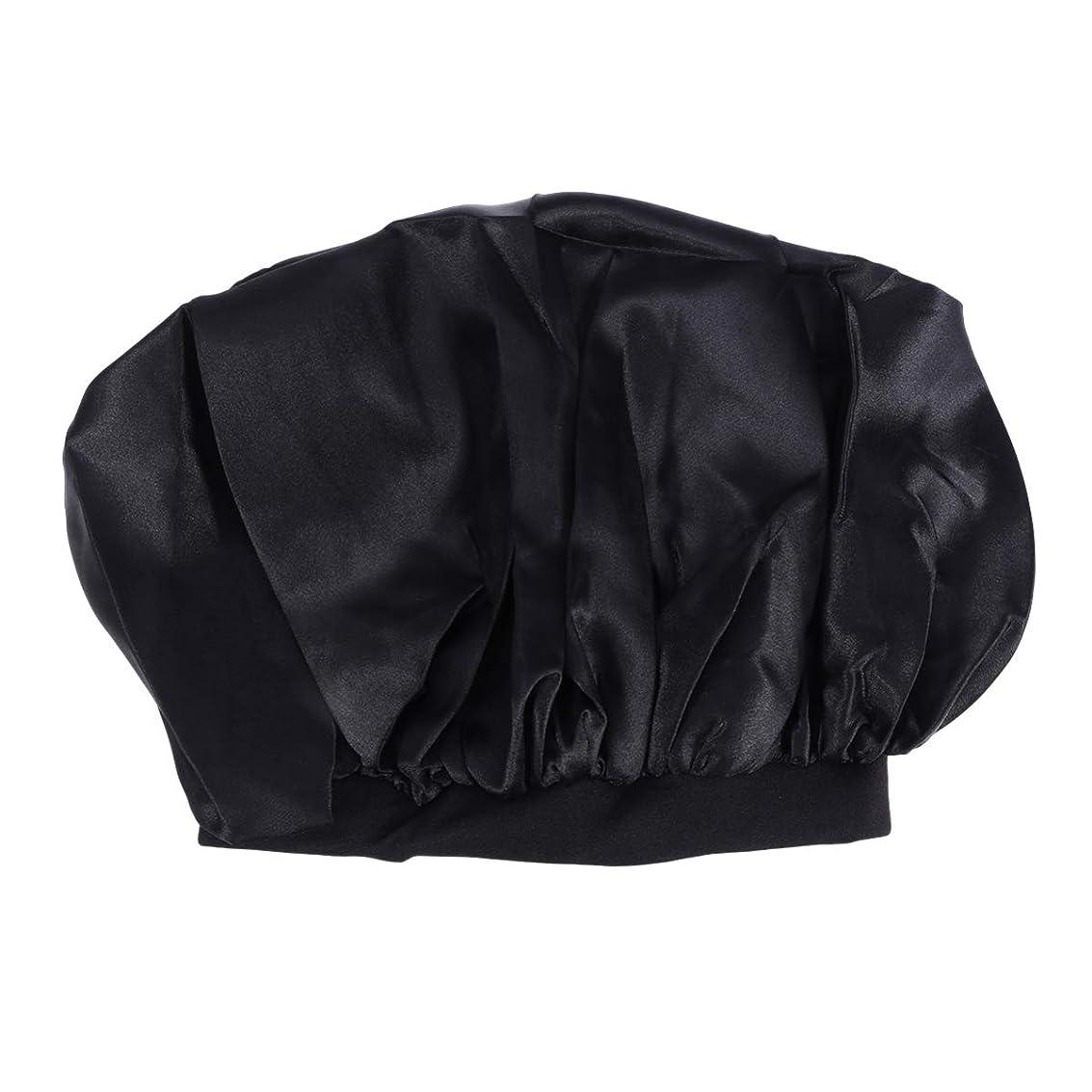 ドーム卒業わずかにHealifty スリープキャップシャワーキャップ(黒)