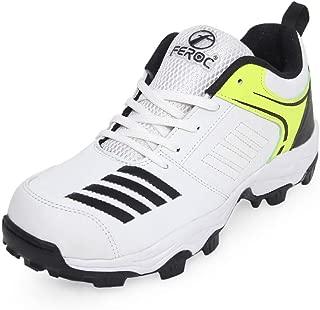 Feroc Blaster White Black Cricket Shoes
