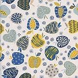 Textiles français Baumwollstoff | EIN Apfel am Tag… -