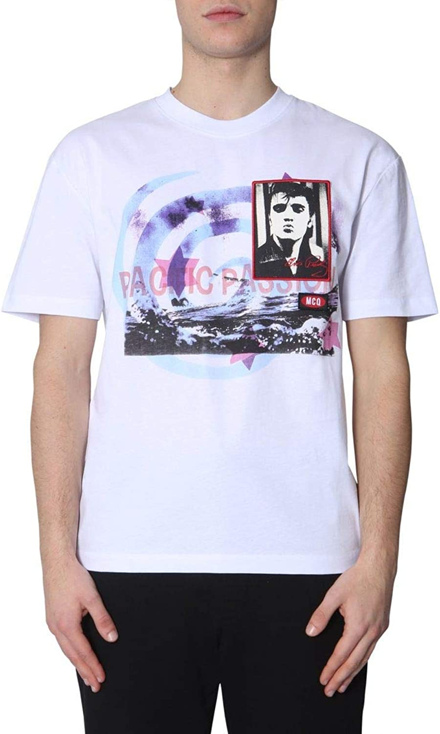 MCQ BY ALEXANDER MCQUEEN Men's 291571RMT809000 White Cotton TShirt
