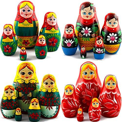 Lot 4 Nesting Dolls Sets 5 pcs