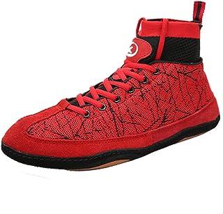 HwwPrime Men's High-Top Boxing Shoes,Red,39 EU