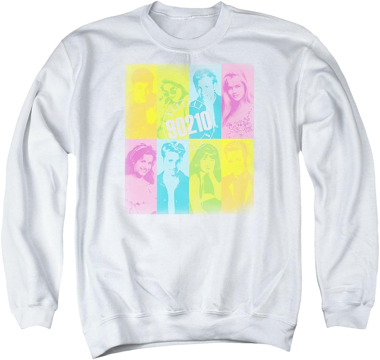 Beverly Hills 90210 Teen Drama TV Series color Block Adult Crewneck Sweatshirt White