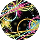 Creative Converting 8 Count Sturdy Style Paper Dessert Plates, 7', Glow Party
