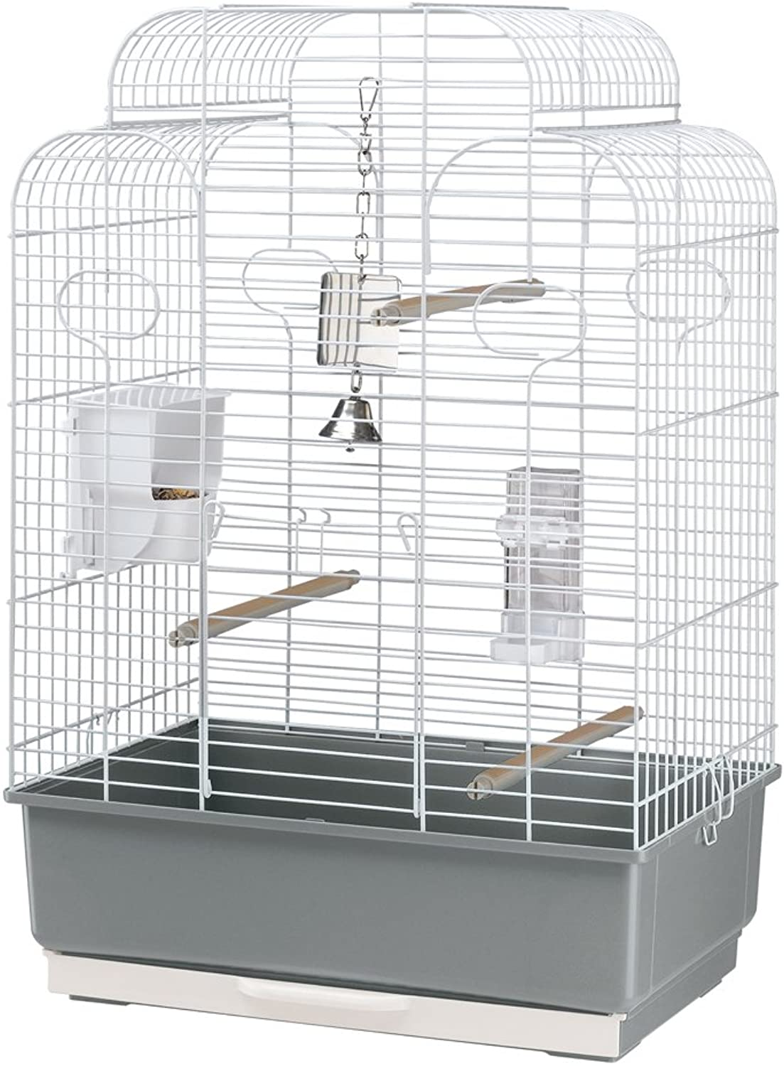 Ferplast Gala Parakeet Cage with Pearly White Bars with Accessories