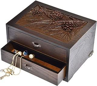 Toiletry Bags Jewelry Box Jewelry Display Box Solid Wood Jewelry Storage Display Box Double Dressing Table Decorative Jewelry Storage Box Multi-Function Home Accessories Jewelry Storage Box