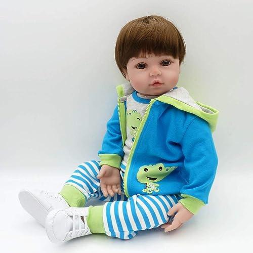 DoMoment 58 cm Ganz  Weiße Silikon Vinyl Baby Puppe Puppe Spielzeug Babe Baby Puppe Playmate Geschenk ungiftig Sichere Handgemachte Baby Puppe