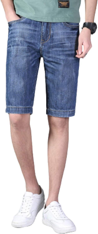 Beastle Men's Denim Shorts Summer New Casual Denim Shorts Comfortable Straight Slim