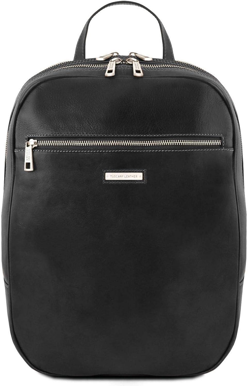 Tuscany Leather Osaka Leather laptop backpack - TL141711 (Black)