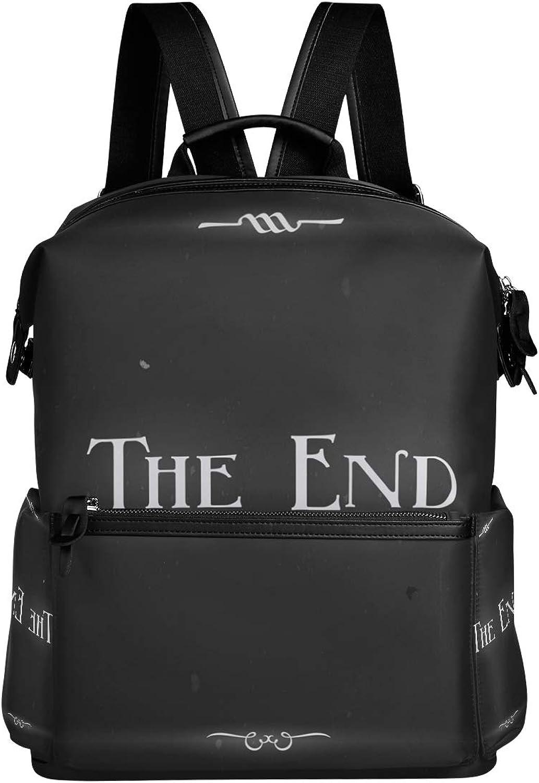 Backpack Rucksack Travel Daypack The End Pattern Student School Book Bag Casual Travel Waterproof