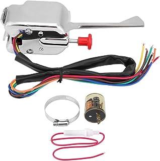 12V universal Interruptor intermitente de señal de giro de la varilla de emergencia de Chrome Street, con 2 Pin LED Turn Blinker Light Flasher Relay