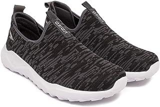 ASIAN Men's Excel-15 Grey Black Fabric Sports Running Slip-on Shoes (UK-8)