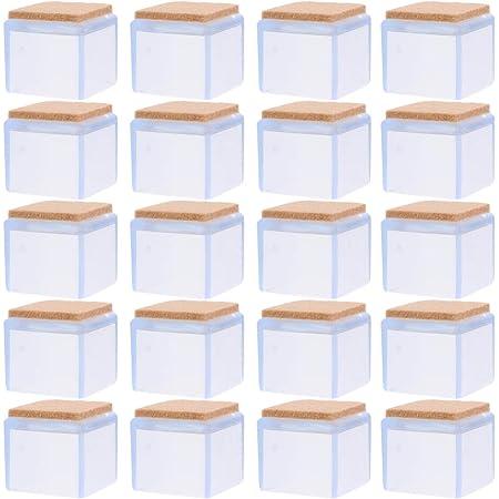 NICEXMAS 20 Piezas Protectores de Piso para Patas de Sillas Tapas de Patas de Sillas de Silicona Protectores de Pies de Sillas de Mesa Cuadrada Tapas de Patas de Muebles Antideslizantes
