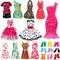 Bigib Set for 11 inches Barbie Ba-Girl Fashion Dolls Clothes Accessories from Bigib