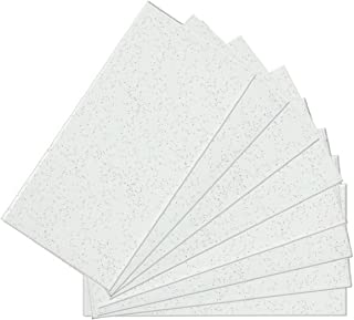 SkinnyTile 4414 48 Pack Peel and Stick Glittered Avalanche Glass Wall Tile, 6