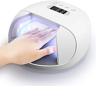 L.TSA Decoración de uñas Lámpara de uñas Secadora UV LED Salón Luz de uñas 48W Fuente de luz Doble con Temporizador Inteligente Máquina de Memoria Uñas Uñas para Gel Esmalte de uñas