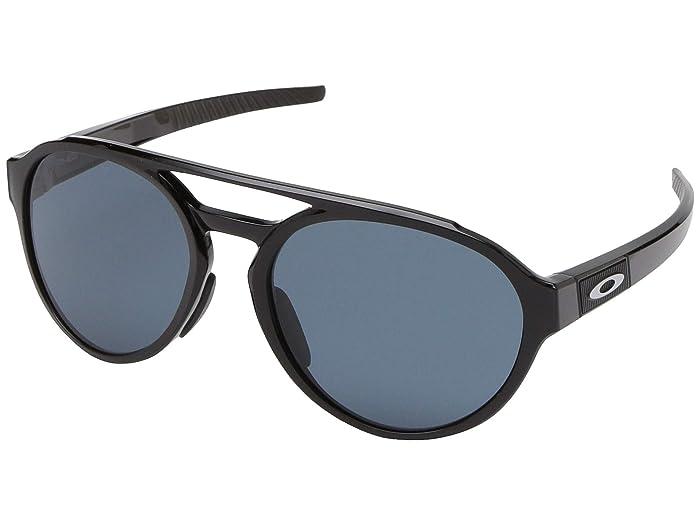 Oakley Forager (Polished Black w/ Prizm Grey) Fashion Sunglasses