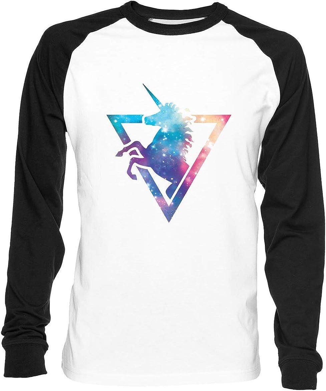 Galaxia Unicornio Hombre Mujer Unisex Camiseta De Béisbol Blanca Negra Manga 2/3 Women's Men's Unisex Baseball T-Shirt