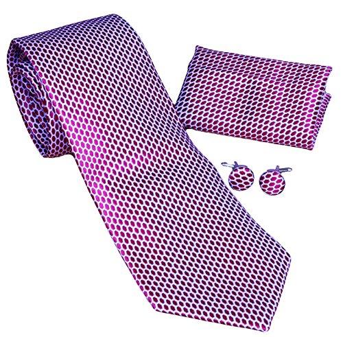 MONETTI Set Cravatta rosso - 100% seta - nella scatola regalo.