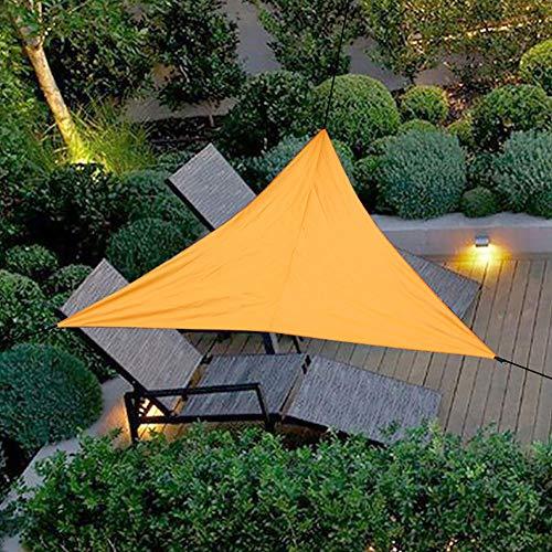 Gobabo Sonnensegel / Sonnensegel, dreieckig, wasserdicht, UV-Schutz, für Terrasse, Garten, Pool, Teich (3 x 3 m, Orange)