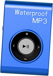MagiDeal Universal Mp3 Music Player FM Radio with Clip IPX8 Waterproof Level Home Car - Blue