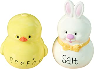 Transpac Yellow Dolomite Easter Hip Hop Salt and Pepper Set of 2