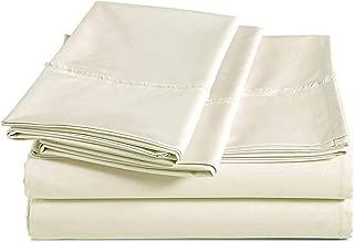 AmazonBasics Organic Percale Cotton Sheet Set with Frayed Hem - King, Linen