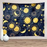 Feierman Sun and Moon Psychedelic Wall Tapestry with Art Chakra Home Decorations for Bedroom Dorm Decor