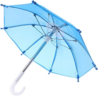 Forgun Colorful Mini Umbrella Rain Gear for Blythe American Doll 18 Inch Doll Accessories Baby Photography Props Kids Toy