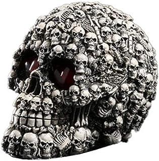 LINJJ Cráneo Cabeza Decoración Creativa Modelo De Cráneo Escena De La Película Material De Resina De La Decoración De La Personalidad Muebles Ornamento