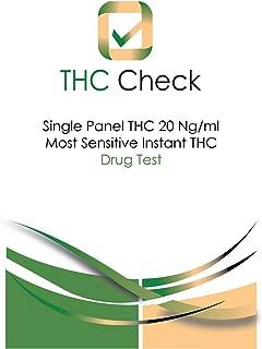 THC Check: Instant 20 Ng/ml Ultra-Sensitive Marijuana Drug Test: 5 Individual Tests