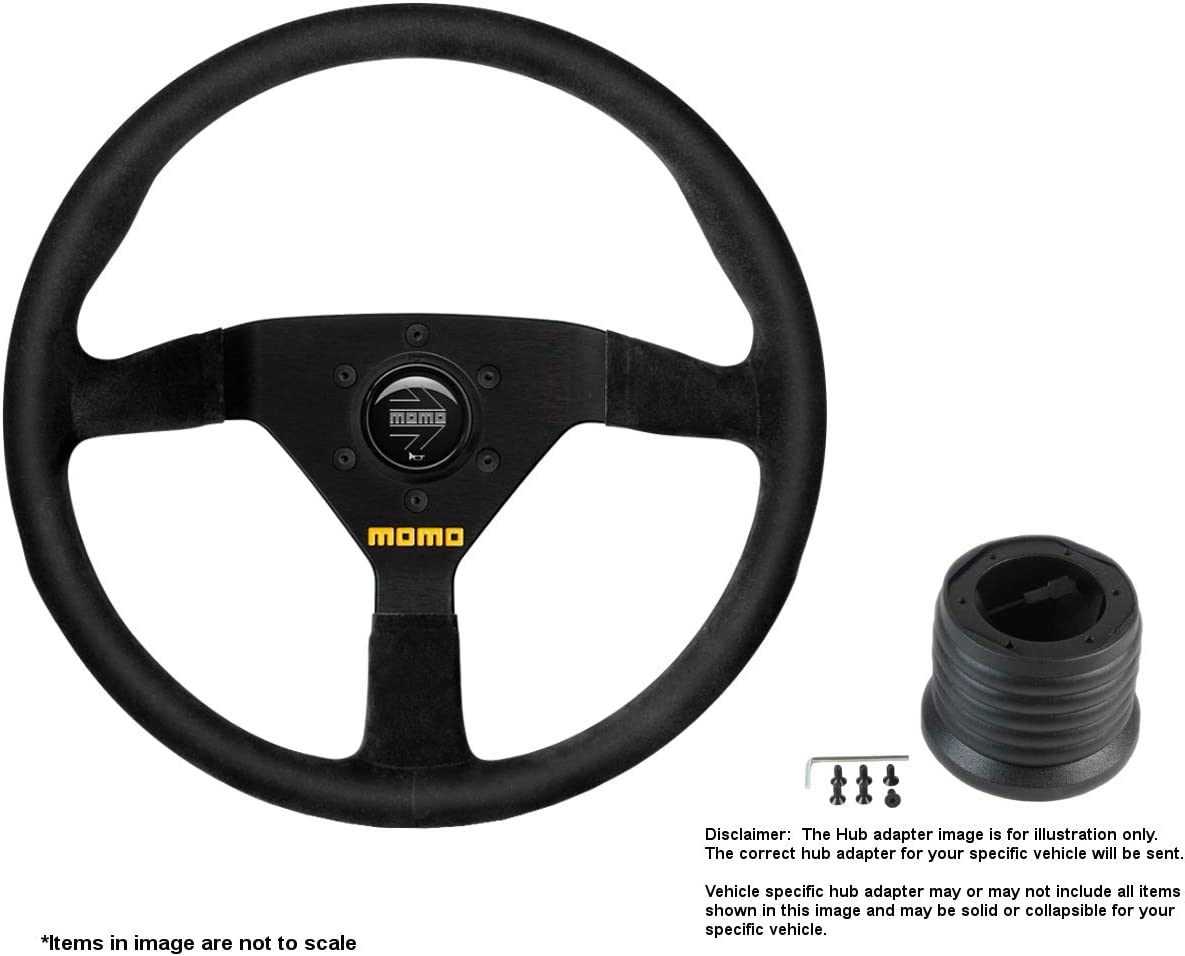 Weekly update MOMO MOD.78 350mm 13.78 Inches Genuine Free Shipping w Suede Wheel Brushed Steering