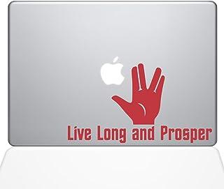 ملصق مائي من الفينيل مطبوع عليه Guru Live طويل ومتين، 13 بوصة MacBook Pro (2015 & الأقدم)، أحمر (1349-MAC-13P-DR)